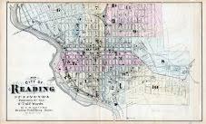 map of berks county pa reading city ward map 1 atlas berks county 1876 pennsylvania