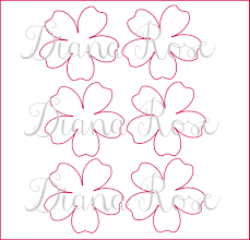 printable paper rose templates diy paper flowers printable