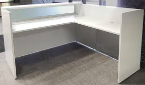 L Shaped Salon Reception Desk White Salon Reception Desk
