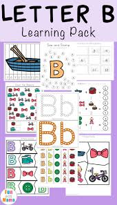 letter b preschool printable pack fun with mama