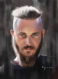 ragnar lothbrok hair ragnar lothbrok in progress pencil drawing on paper photo image