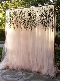 tulle backdrop outdoor wedding ceremony decor unique floral and weddings