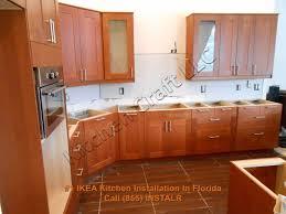 Ikea Kitchen Cabinet Installation by Ikea Kitchen Cabinets With White Kichen Cabinet Doors Plus Cream