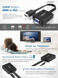 rca dvd home theater system with hdmi 1080p output amazon com ugreen active hdmi to vga adapter converter with 3 5mm