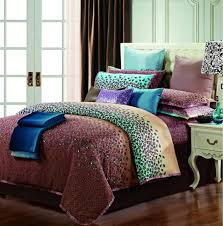 Leopard King Size Comforter Set Egyptian Cotton Purple Blue Comforter Bedding Set King Size Queen