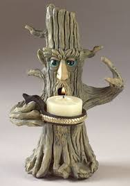living tree candle holder