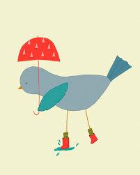 Bird Decor For Nursery Original Illustration Print Bird Nursery Illustration