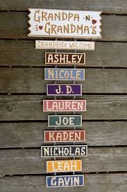 grandpa and grandma u0027s carved personalized wood sign with