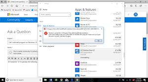 get amazing software uninstall app can t uninstall program on windows 10 using apps features