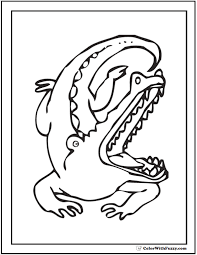 alligator coloring pages print customize
