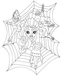 monster high wydowna spider colouring bratz monster high