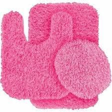 Bathroom Rug Sets Walmart Jazz Shaggy Nylon 3 Piece Washable Bathroom Rug Set Pink Shaggy