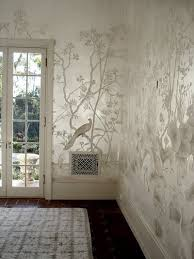silver metallic leaf foil walls then can use a stencil library