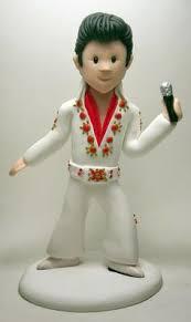 elvis cake topper elvis gumpaste fondant figurine figurines