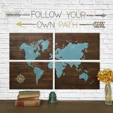 Home Decor World by Large Wooden World Map Aqua Rustic World Map Map Art Home