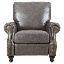Brown Leather Recliner Chairs Living Room Furniture The Home Depot