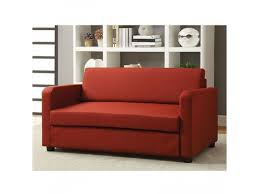 Folding Sofa Bed by Red Fabric Adjustable Folding Sofa Bed Sleeper Futon