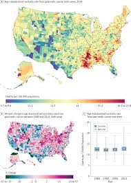 Map Of Counties In Kansas Disparities In Cancer Mortality Among Us Counties 1980 2014
