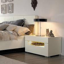 Bedside Table Desk Bedroom White Small Bedside Table With Desk Lamp And White Tufted