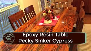 Cypress Dining Table by Pecky Sinker Cypress Table Jeremy Hoffpauir
