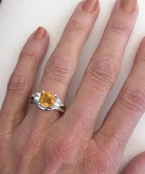 citrine engagement rings past present future citrine engagement ring in 14k white gold gr