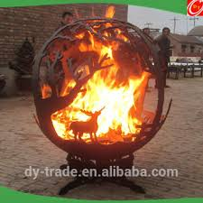 Sphere Fire Pit by Decorative Outdoor Handcrafted Custom Fire Steel Sphere Pits Buy