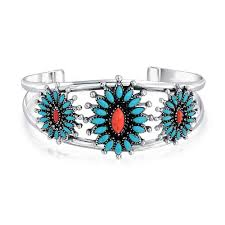 bracelet silver turquoise images 925 silver southwest style synthetic turquoise cuff bracelet jpg
