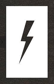 rae lightening bolt electric vehicle stencil plug text