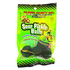 pickle candy alamo candy sour pickle balls free shipping 25 munchpak