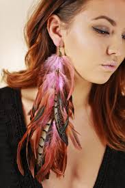 feather earring forever feather earring pink