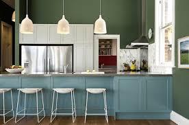 Soft White Kitchen Cabinets Kitchen Soft Blue With Kitchen Island Also Dark Green Wall