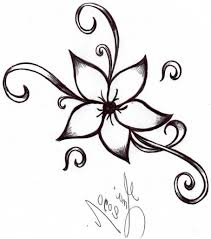 easy cool drawing designs how to draw a simple tribal heart tattoo