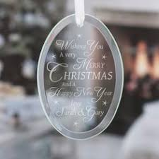 personalised merry christmas glass keepsake the gift experience