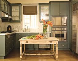 unique cabinets green color kitchen cabinets solid brown wooden countertop lower