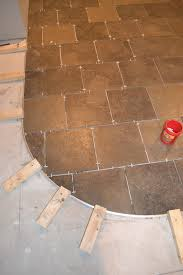 Laminate Floor Transition The Penny Parlor How To Curve A Tile Transition Strip