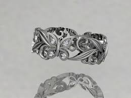 butterfly wedding rings images Platinum diamond leaf and vinel butterfly wedding ring engagement jpg