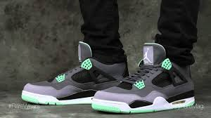 green glow 4 air 4 retro green glow on rarewears by