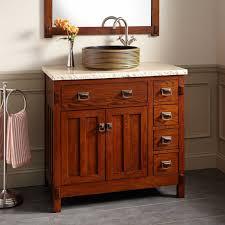 Harington Oak Vessel Sink Vanity Vessel Sink Vanities - Bathroom vanity for vessel sink