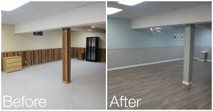 Painting Paneling In Basement | basement reveal basements house and paint wood paneling