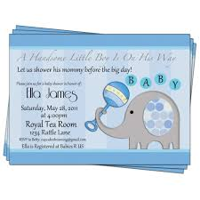 baby shower wording for a boy baby boy shower invitation elephant