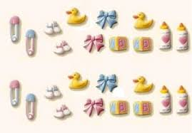 edible cake decorations baby deluxe assortment 32804 edible sugar