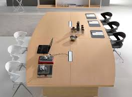 Modular Conference Table System Contemporary Conference Table Wood Veneer Glass Leather