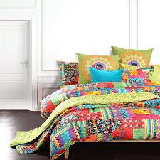 Unique Bed Comforter Sets Bohemian Bedding Colorful Modern Duvet Cover King