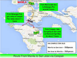 san jose mindoro map tourism at san jose occidental mindoro