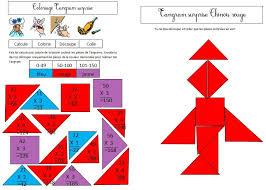 coloriage tangram blog de monsieur mathieu gs cp ce1 ce2 ce1