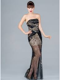Black And Gold Lace Prom Dress Black Gold Lace Sequin Evening Dress Fashion Dresses