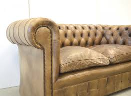 Vintage Leather Chesterfield Sofa by Vintage English Mid Brown Leather Chesterfield Two Seater Sofa