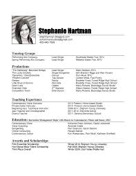 Free Acting Resume Template Download Performance Resume Template Resume For Your Job Application