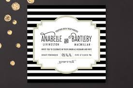 black and white striped wedding invitations ascot chic wedding invitations by frooted design at minted