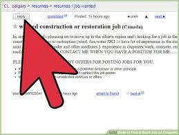 Posting Resume On Craigslist How To Find A Good Job On Craigslist 7 Steps With Pictures